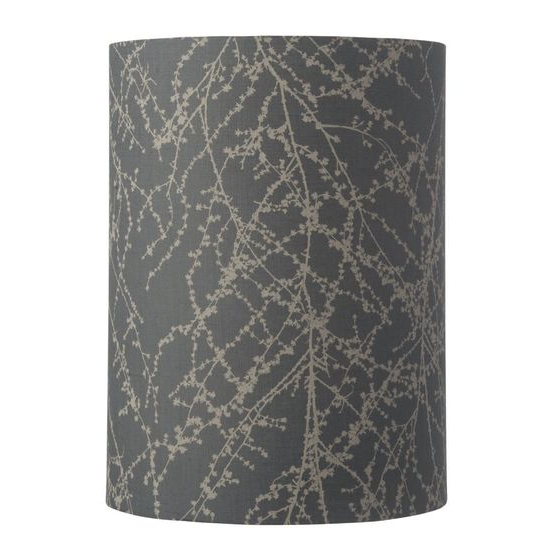 Edle Lampenschirme 30-h-40cm-branches-grey-silver