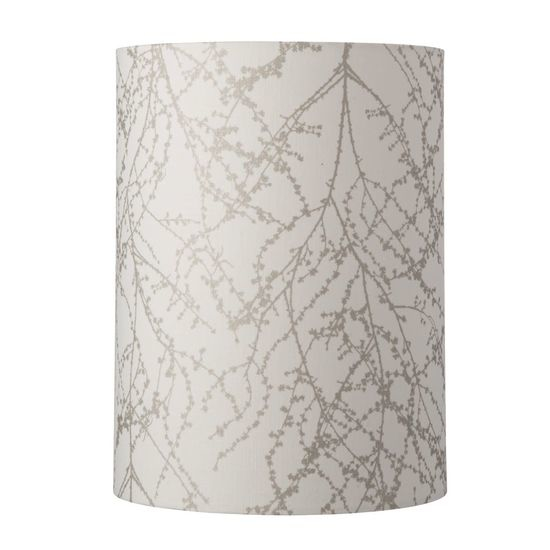 Lampenschirm, 30-h-40cm-branches-white-silver