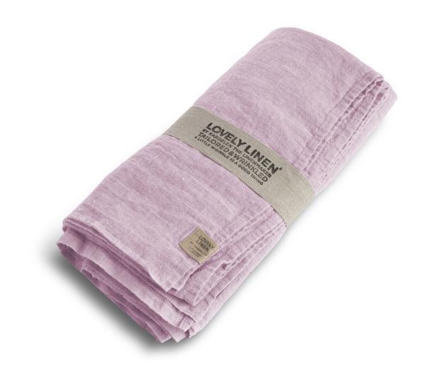Buegelfreie-Tischdecken-und-Servietten-von-Lovely-Linen in Dusty-Pink