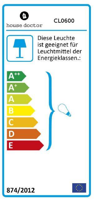 Hängelampe Energielabel 1