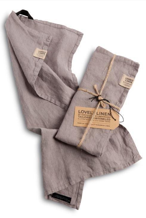 Leinenservietten in Misty Grey von Lovely Linen