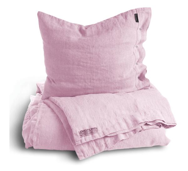 Hochwertige-Bettw-sche-aus-Leinen-in-den-Abmessungen-155x220cm-von-Lovely-Linen-in-zart-rosa