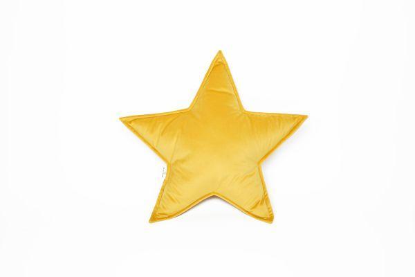 Sterne Kissen, gelb