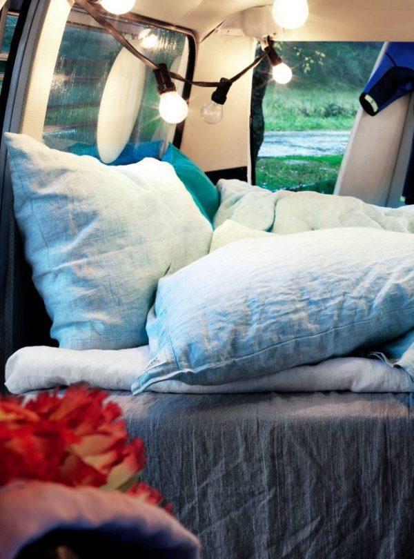 Kopfkissenbezug-Chambray-Ocean-von-Lovely-Linen