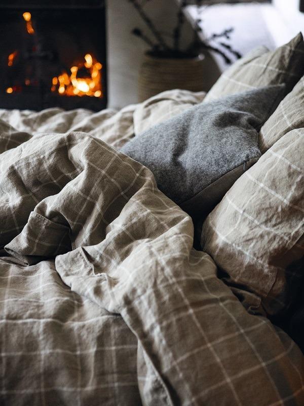Leinen-Bettbezug-Check-Lovely-Linen-2