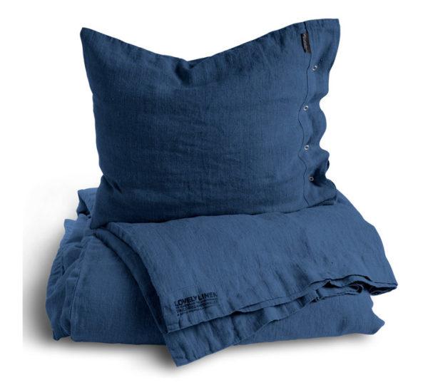 Lovely-Linen-Bettbezug-in-dunkelblau