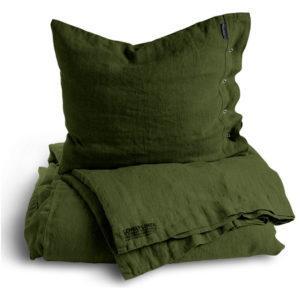 Natur Bettwäsche in grün