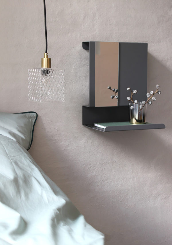 Wandregale Mirror-square-on-wall