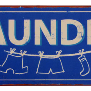 Nostalgisches Metallschild Laundry