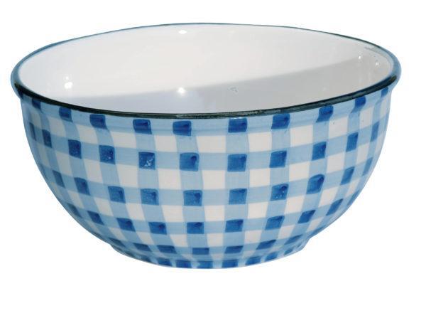 Salatschüssel blau weiß von Virginia Casa