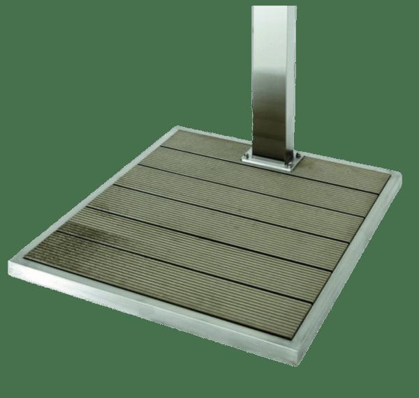 Solardusche-Bodenplatte-mit-Aluminiumrahmen