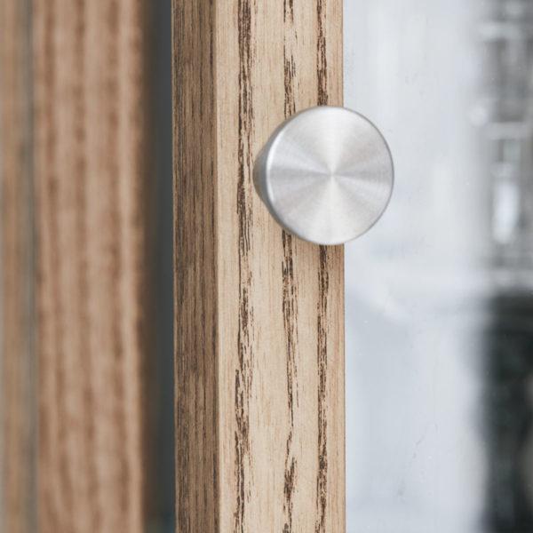Vitrinenschrank Wood Siena mit Griff