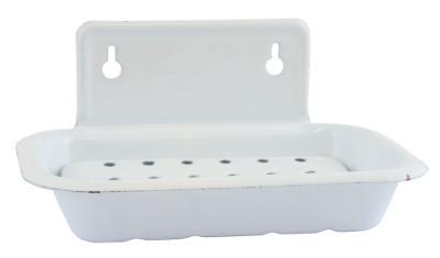 Weisse-Seifenschale-in-Emaille-von-Ib-Laursen-ohne-Seife