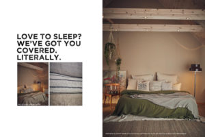 Natur Bettwäsche in natürlichen Farben