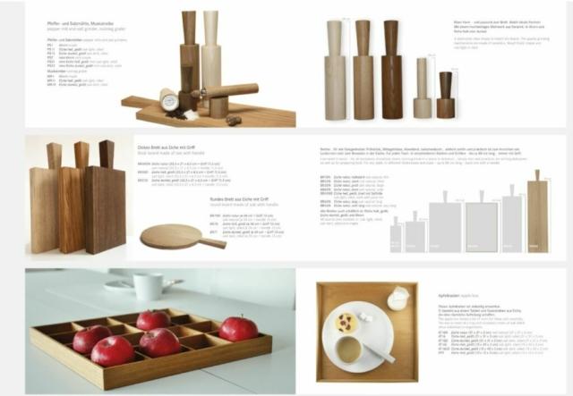 Küchenhelfer, Schneidbretter und Gewürzmühlen aus Holz