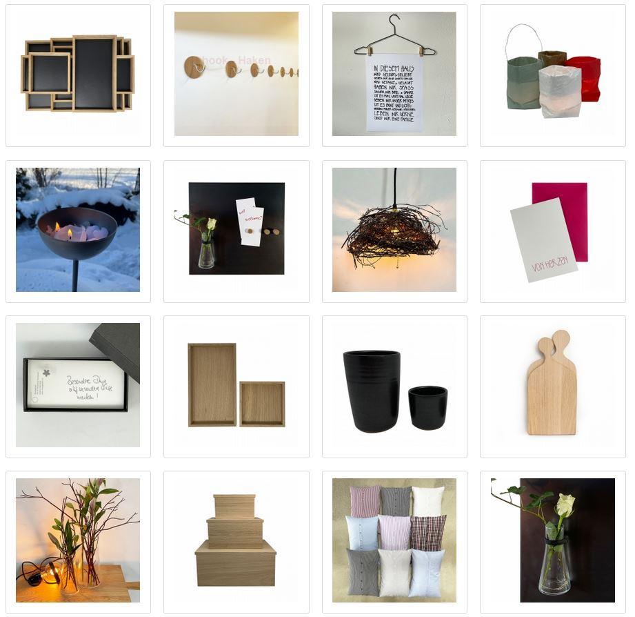 Tabletts, Lampen, Schneidebretter und Kreatives