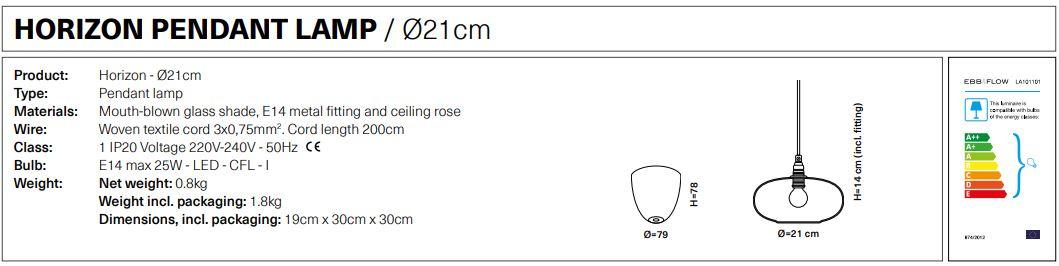 Energielabel-Horizon-Pendant-Lampe-Dia-21cm-von-Ebb-und-Flow
